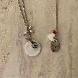 🌿American Eagle Bundle of Two Charm Necklaces